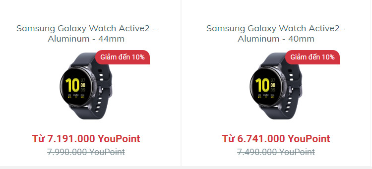 Mua đồng hồ Samsung Galaxy Watch Active2 – Alumium tại YouHomes Mall để nhận ưu đãi lớn
