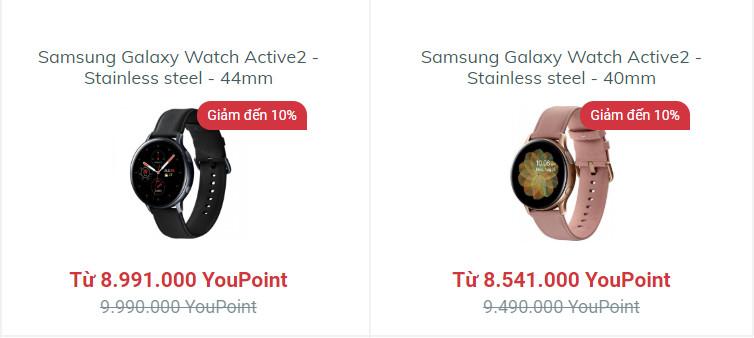 Mua đồng hồ Samsung Galaxy Watch Active2 – Stainless stell tại YouHomes Mall để nhận ưu đãi lớn