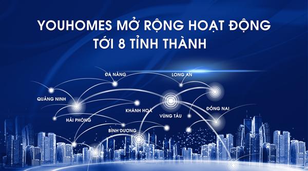 YouHomes sẽ mở rộng hoạt động ra thêm 8 tỉnh thành trên cả nước.