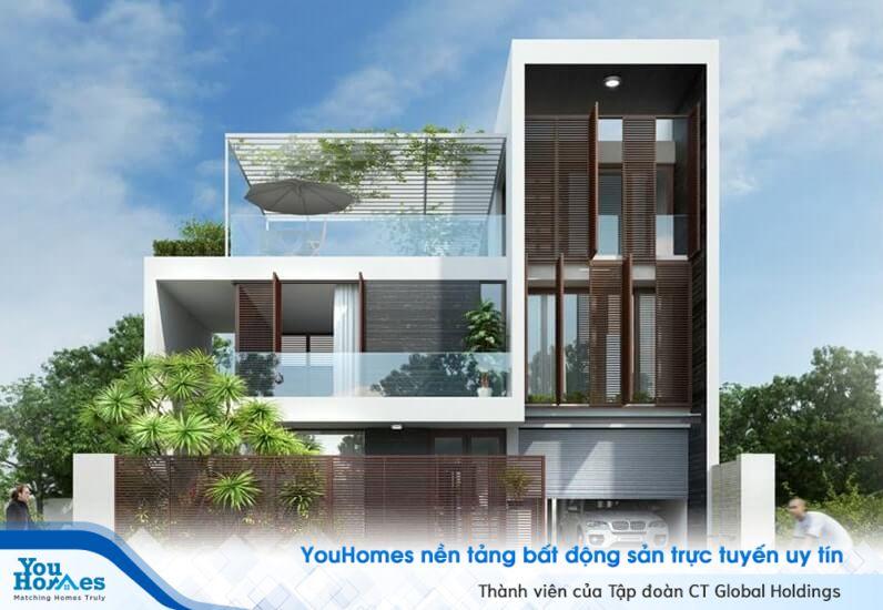 Biệt thự là nhà ở riêng biệt, có sân vườn, có hàng rào và lối ra vào riêng biệt, có số tầng chính không quá 3 tầng...