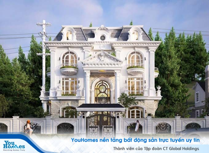 Biệt thự tân cổ điển là loại hình biệt thự kết hợp hài hòa giữa trường phái kiên trúc cổ điển và hiện đại.