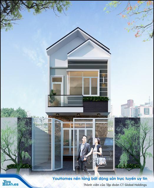 Để tiết kiệm chi phí xây dựng nhà 2 tầng 60 m2, bạn hãy lựa chọn phong cách thiết kế nhà hiện đại.