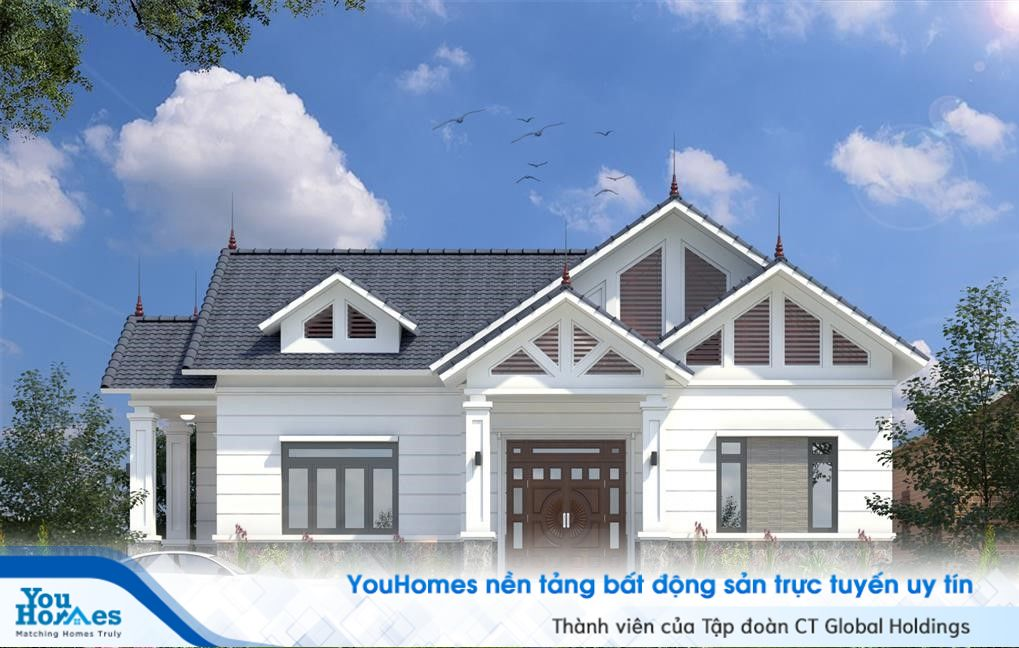 Tổng quan mẫu nhà cấp 4 mái thái 120m2 – 3 phòng ngủ - 1.1 tỷ đồng