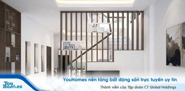 Mẫu vách ngăn kết hợp với chân cầu thang.