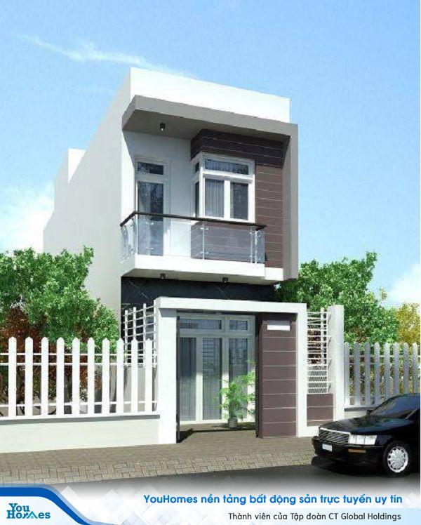 Mẫu nhà 2 tầng có gác lửng thiết kế dành cho những gia đình trẻ, năng động.