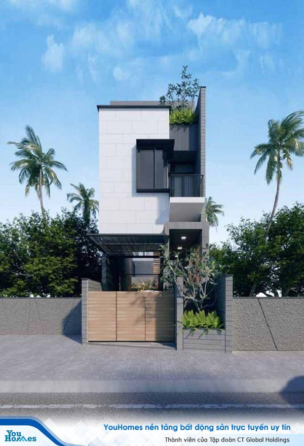 Mẫu nhà 2 tầng có gác lửng thiết kế độc đáo dành cho những gia chủ các tính, thích sự mới lại. Tầng 2 của ngôi nhà có gác lửng thường cao hơn so với những mẫu nhà 2 tầng khác nên mang đến cảm giác mạnh về chiều cao của ngôi nhà.