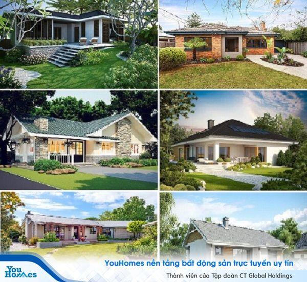 Thiết kế sân vườn được chú trọng trong những mẫu nhà này để tạo một tổng thể hài hòa, xanh tươi.