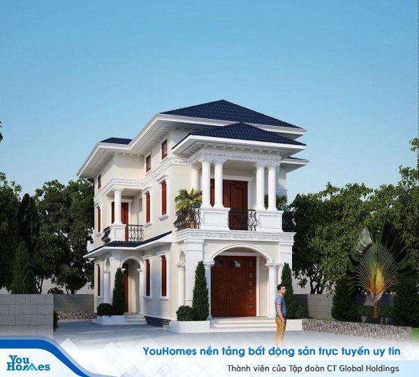 Thiết kế mẫu nhà ống 2 tầng dành cho những gia chủ sở hữu mảnh đất rộng.