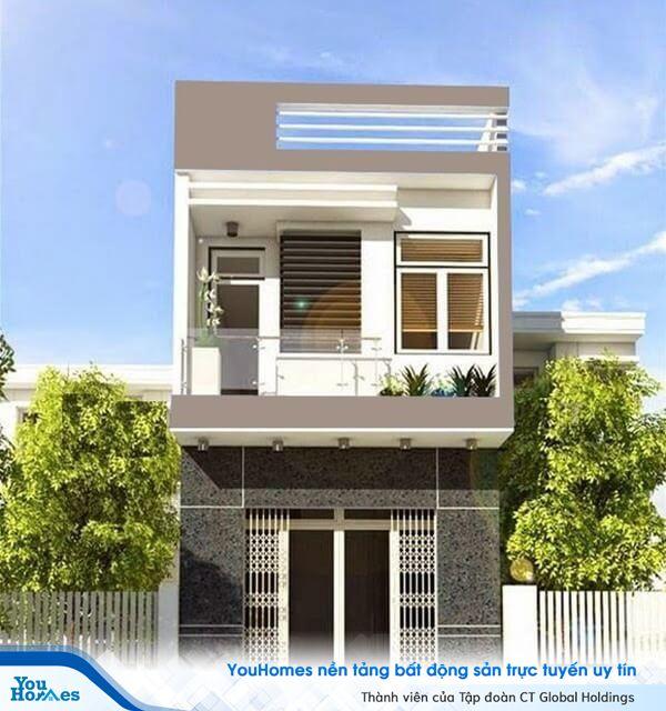 Mẫu nhà 2 tầng hiện đại với giá chưa tới 400 triệu.