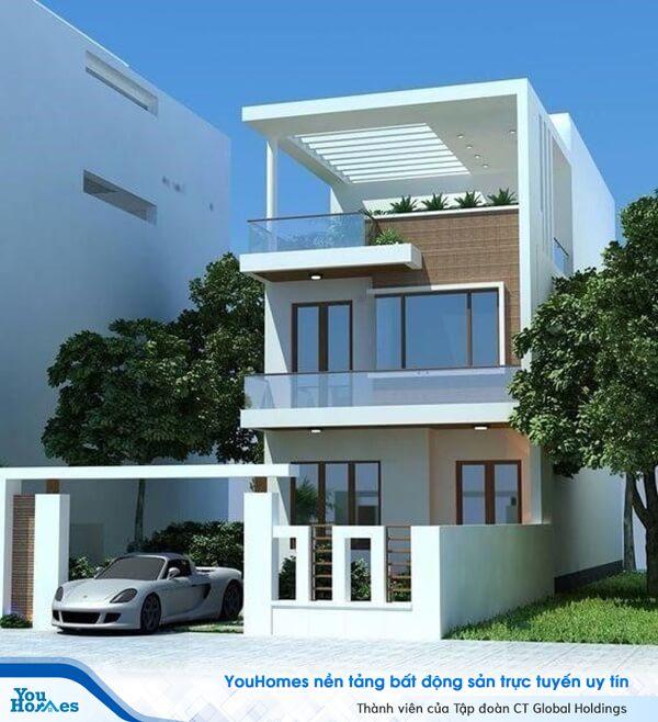 Sân thượng được thiết kế theo kiến trúc những thanh lam để tận dụng được lượng ánh sáng tự nhiên giúp cây xanh trên tầng thượng hấp thụ được nhiều ánh sáng.