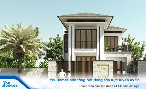 Thiết kế màu nâu và màu trắng mang đến cho ngôi nhà sự gần gũi, thân thuộc toát lên vẻ hiện đại.