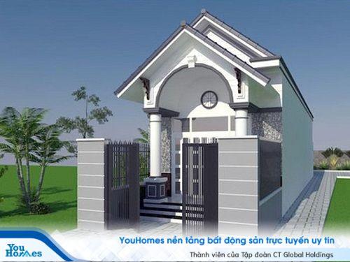 Do hạn chế không gian mẫu nhà cấ 4 mái thái tận dụng tối đa diện tích xây dựng giúp bên trong nhà trở nên rộng rãi hơn.