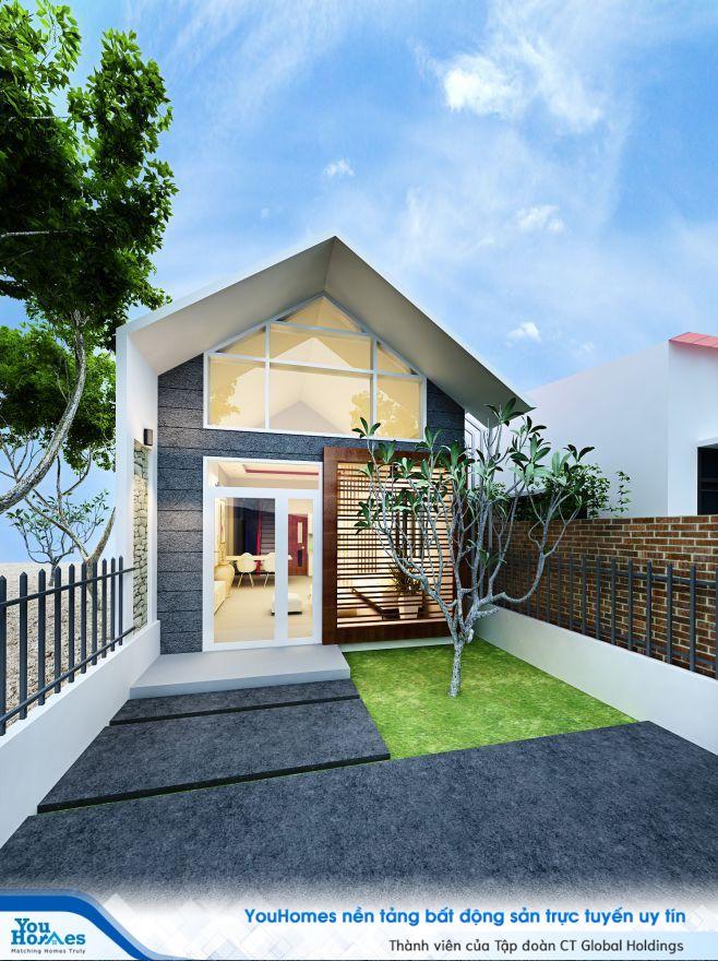 Mẫu nhà cấp 4 5x20 cũng phần tầng lửng hợp lý giúp chủ nhà có thêm không gian riêng tư.