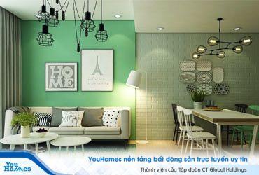 Mãn nhãn với những mẫu phòng khách xanh mát