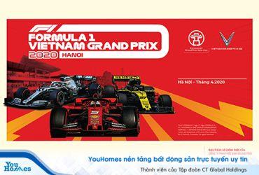 Sở hữu vé đua xe F1 Grand Prix 2020 chỉ với thao tác đơn giản qua YouHomes...