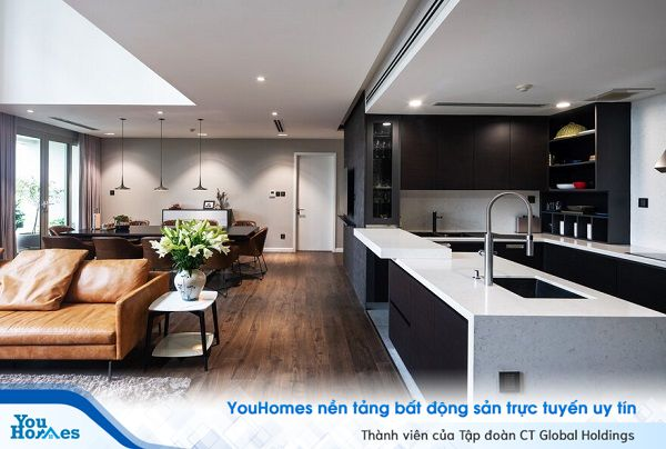 Phong cách hiện đại cho căn hộ 2 tầng