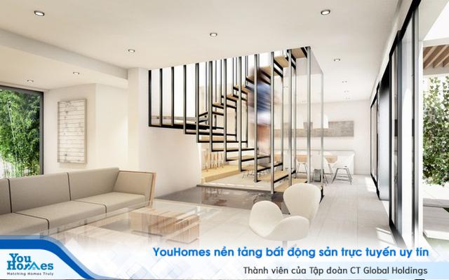Cầu thang đẹp - Điểm nhấn cho một phòng khách hoàn hảo