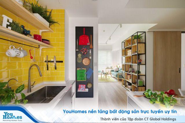 Không gian nhà tinh tế với nội thất đa sắc