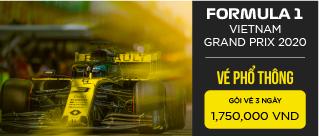 Vé sự kiện Formula 1 Việt Nam Grand Prix 2020 - Hạng vé phổ thông